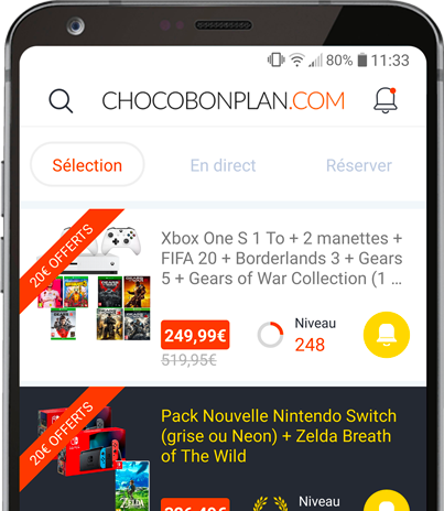 Télécharger l'application mobile ChocoBonPlan sur le Google Play Store