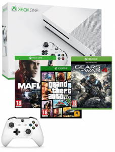 pack xbox one s 3 jeux et 2 manettes 349 euros. Black Bedroom Furniture Sets. Home Design Ideas