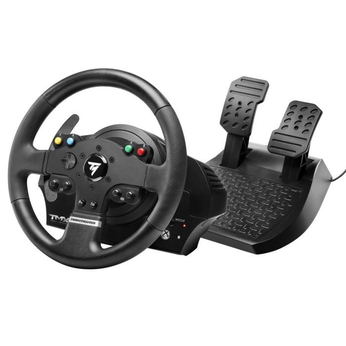 volant thrustmaster tmx xbox one pc 128 euros. Black Bedroom Furniture Sets. Home Design Ideas