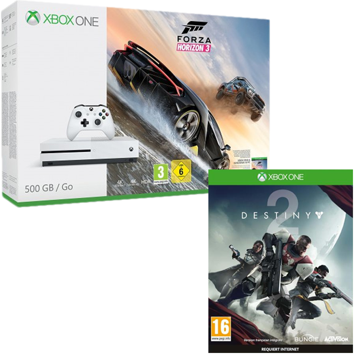 pack xbox one s 500 go forza horizon 3 249 99 euros. Black Bedroom Furniture Sets. Home Design Ideas