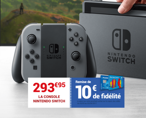 Console Nintendo Switch Carrefour Nintendo Switch Avec Paire De