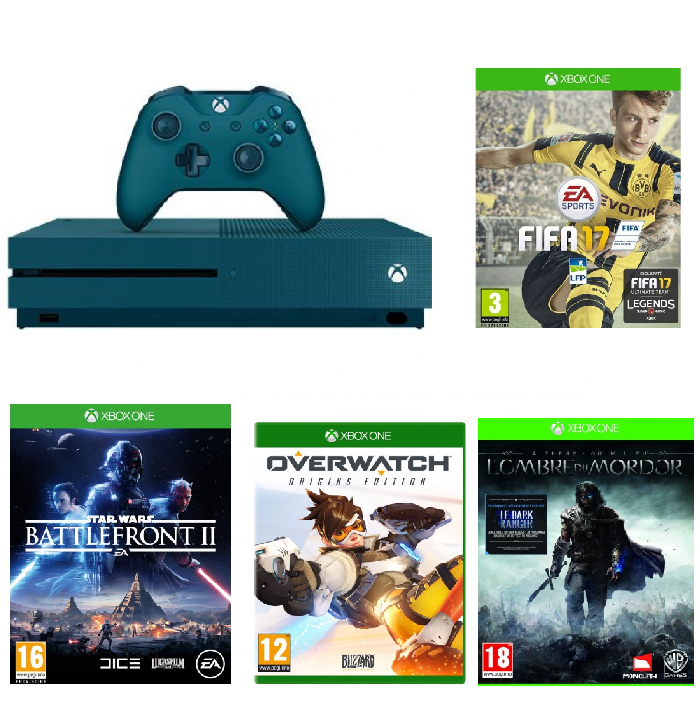pack xbox one s fifa 17 3 jeux 299 euros. Black Bedroom Furniture Sets. Home Design Ideas