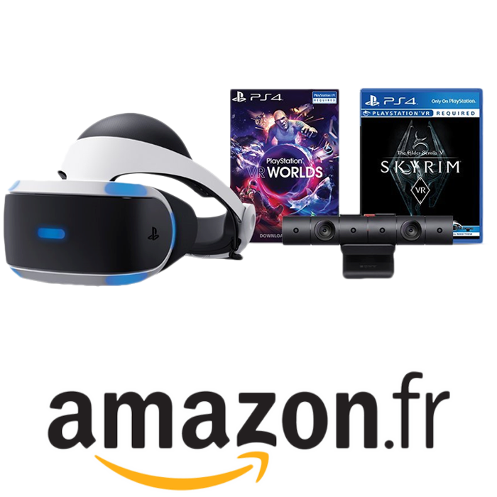 casque playstation vr pas cher 2 jeux 349 euros. Black Bedroom Furniture Sets. Home Design Ideas