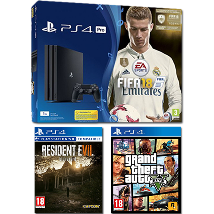 pack ps4 pro fifa 18 dition deluxe 459 99 euros. Black Bedroom Furniture Sets. Home Design Ideas