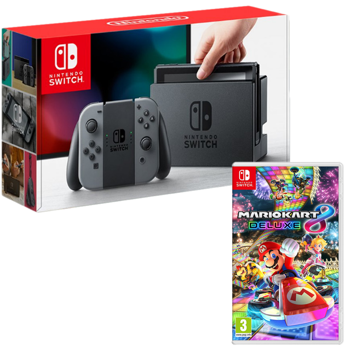 pack nintendo switch grise mario kart 8 deluxe 345 euros. Black Bedroom Furniture Sets. Home Design Ideas