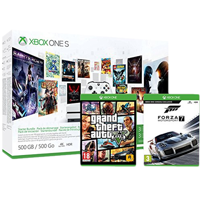 xbox one s 500 go gta 5 forza 7 229 euros. Black Bedroom Furniture Sets. Home Design Ideas