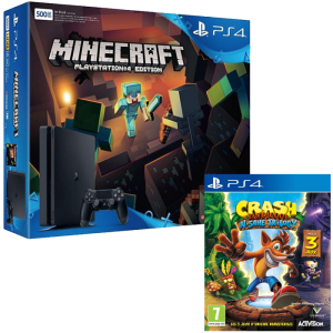 Bon plan Ps4 Slim Crash Bandicoot + Minecraft à 299 euros