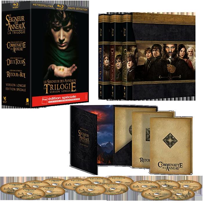 amazon dernière sélection outlet à vendre Trilogie Blu Ray Le Seigneur des Anneaux Version Longue à 32 ...