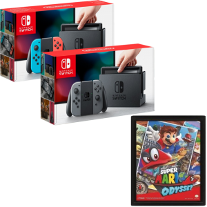 nintendo switch mario odyssey pas cher 299. Black Bedroom Furniture Sets. Home Design Ideas