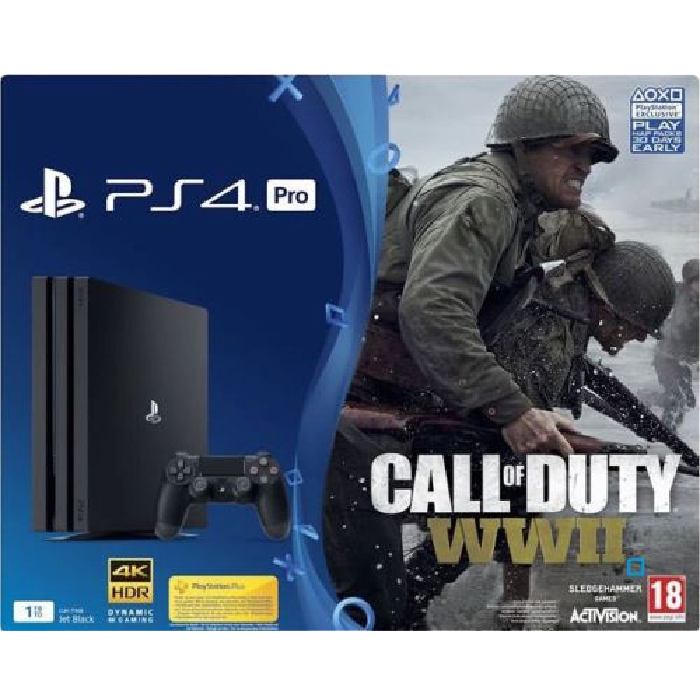 pack ps4 pro call of duty ww2 pas cher 399. Black Bedroom Furniture Sets. Home Design Ideas