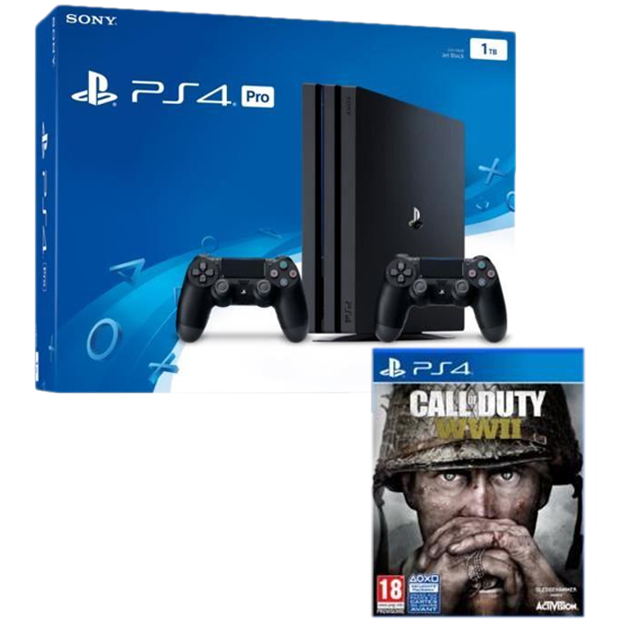 pack ps4 pro noire 1 to 2 me manette cod ww2. Black Bedroom Furniture Sets. Home Design Ideas