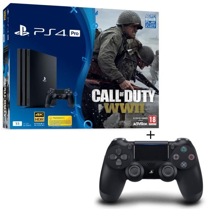 ps4 pro call of duty 2 manettes 419. Black Bedroom Furniture Sets. Home Design Ideas