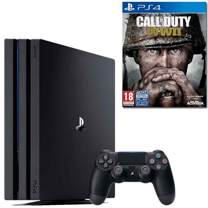 ps4 pro 1 call of duty ww2 pas cher 369 99. Black Bedroom Furniture Sets. Home Design Ideas