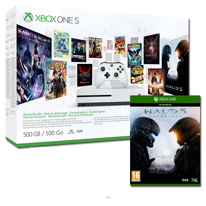 xbox one s halo 5 pas cher 279 120 offerts. Black Bedroom Furniture Sets. Home Design Ideas