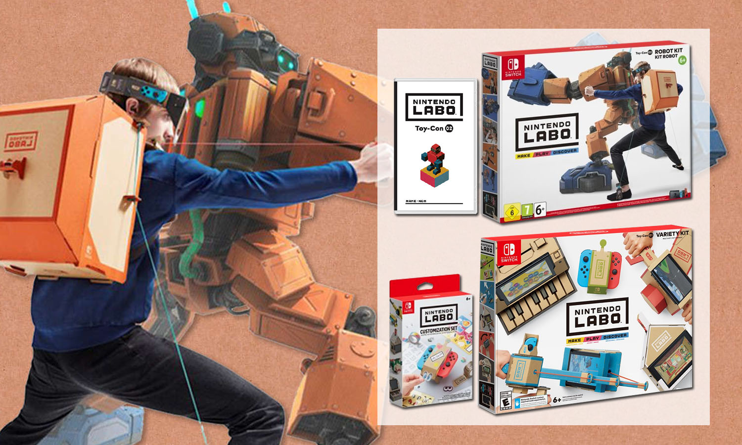 nintendo labo o acheter les kits au meilleur prix. Black Bedroom Furniture Sets. Home Design Ideas