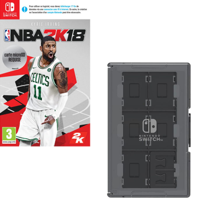 nba 2k18 switch boite rangement jeux 30 42. Black Bedroom Furniture Sets. Home Design Ideas