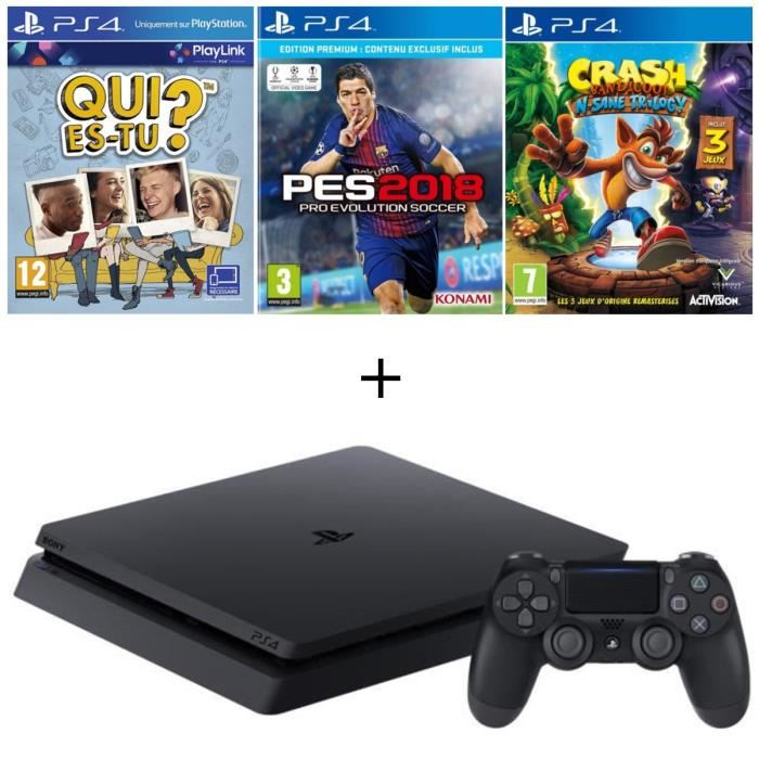 ps4 slim 500go pes 2018 crash bandicoot qui est tu en t l chargement. Black Bedroom Furniture Sets. Home Design Ideas