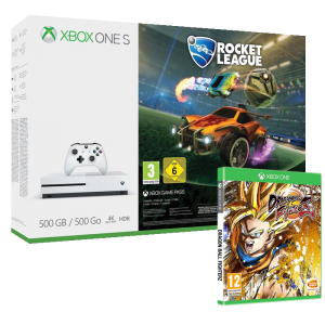 pack xbox one s dragon ball fighterz rocket league 229. Black Bedroom Furniture Sets. Home Design Ideas
