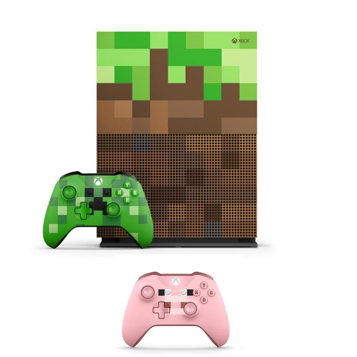 xbox one s minecraft edition pas cher 319. Black Bedroom Furniture Sets. Home Design Ideas