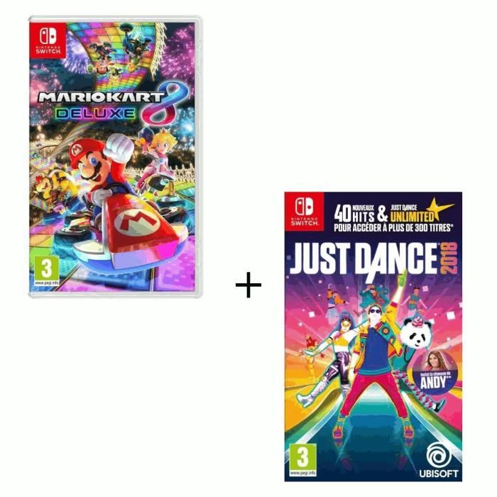 mario kart 8 deluxe pas cher switch just dance. Black Bedroom Furniture Sets. Home Design Ideas