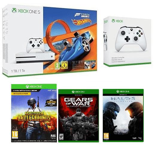 xbox one s vente flash pack 4 jeux console. Black Bedroom Furniture Sets. Home Design Ideas