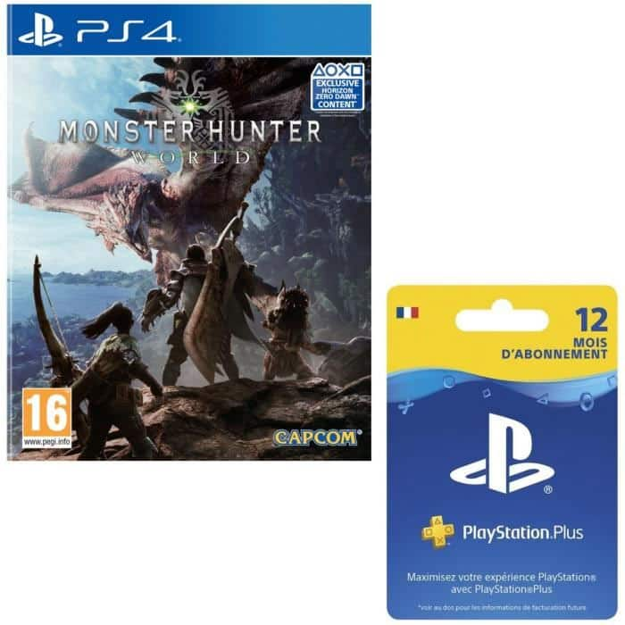 monster hunter world sur ps4 abonnement playstation plus. Black Bedroom Furniture Sets. Home Design Ideas