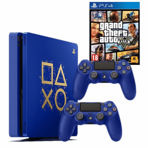 ps4 slim days of play 2 manettes gta 5 305. Black Bedroom Furniture Sets. Home Design Ideas