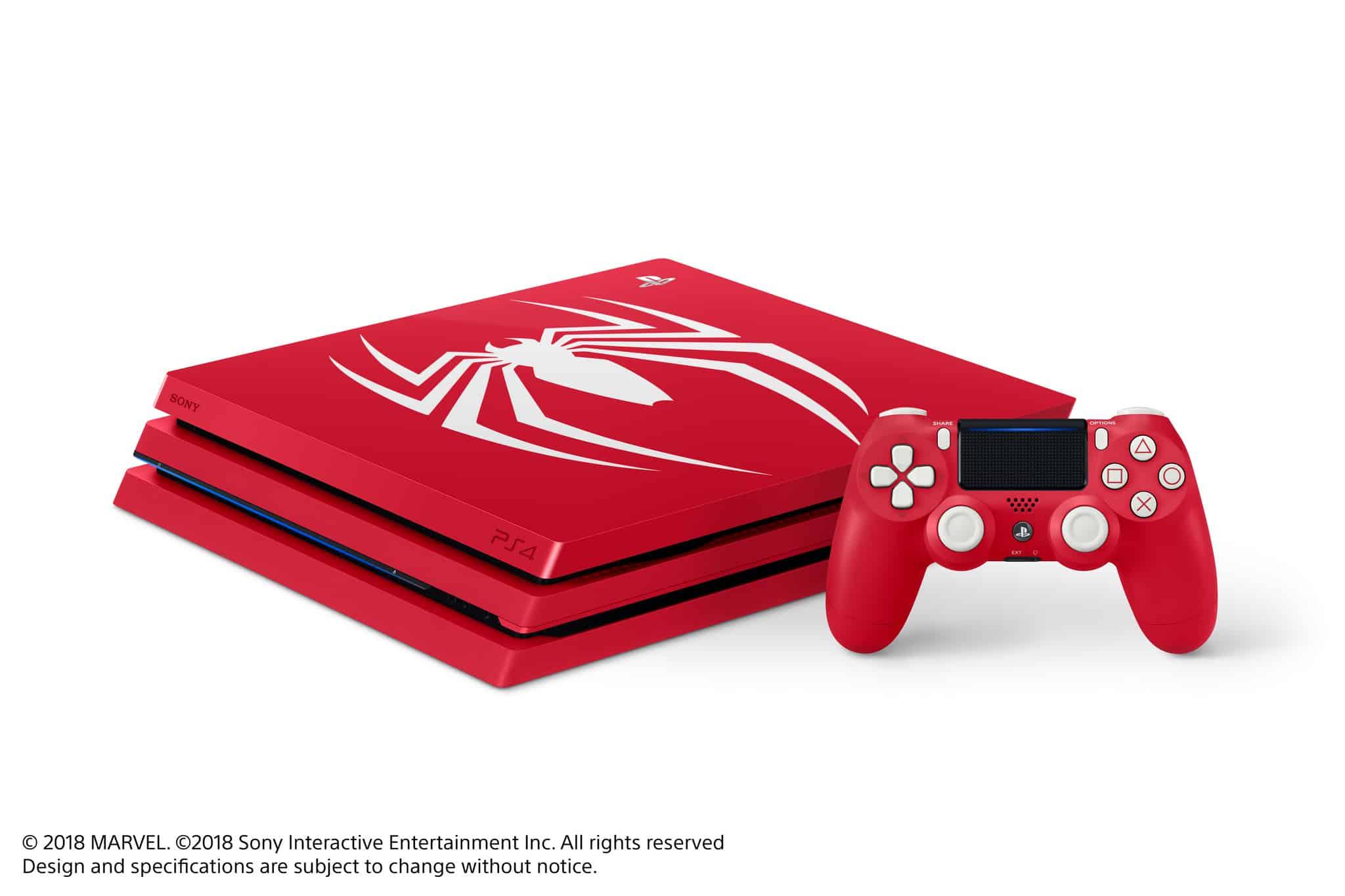 ps4 pro spiderman edition limitée modèle face