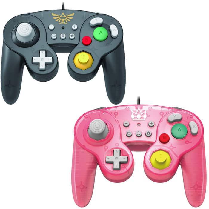 reasonable price new concept best supplier Manettes Gamecube Hori pour Nintendo Switch (Peach ou Mario ...