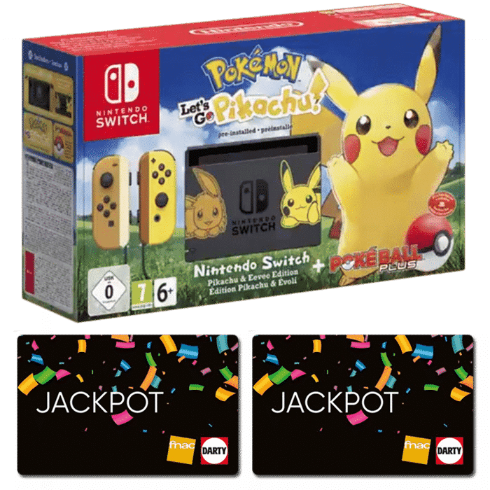 Carte Cadeau Nintendo Fnac.Nintendo Switch Pokemon Let S Go Pikachu Apres Achat De