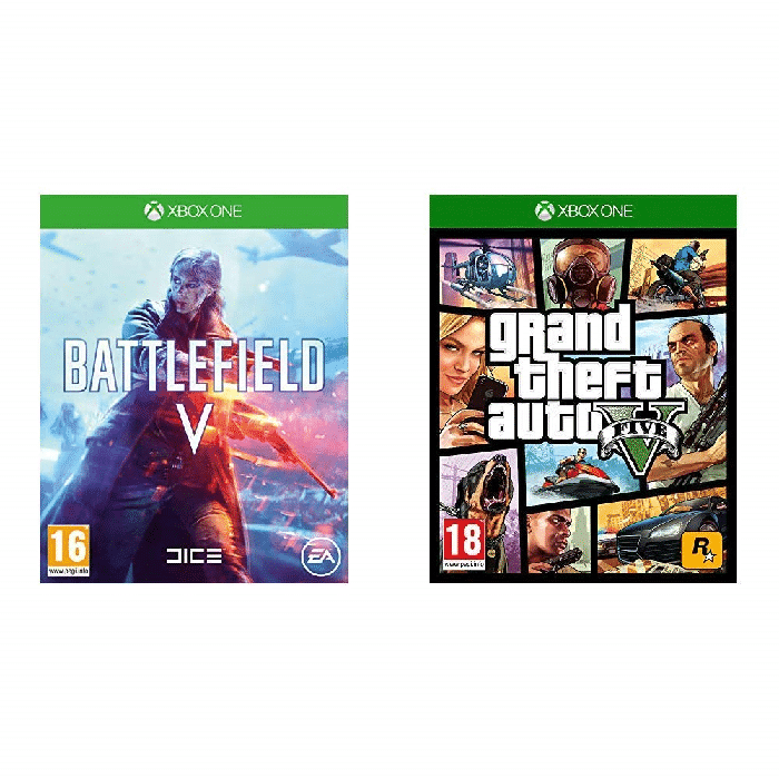 double pack gta 5 battlefield 5 sur xbox one. Black Bedroom Furniture Sets. Home Design Ideas