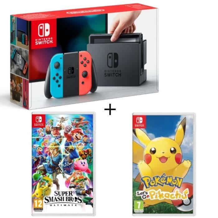Pack Switch Smash Bros Pokemon Lets Go Pikachu