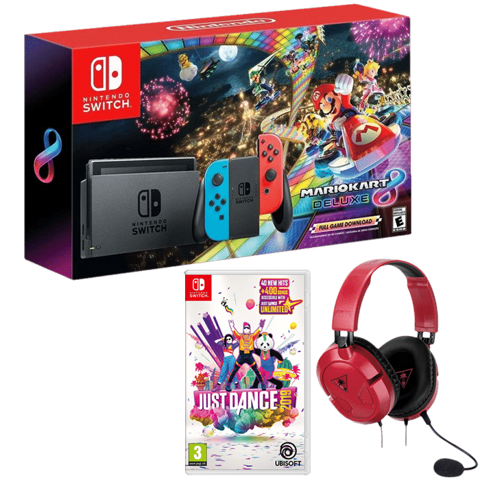 pack nintendo switch mario kart 8 just dance 2019 casque audio. Black Bedroom Furniture Sets. Home Design Ideas