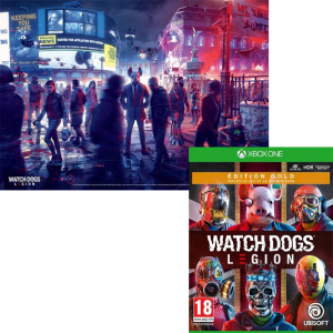 watch dogs legion gold edition xbox one poster visuel produit