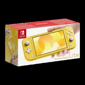 nintendo switch lite jaune boite
