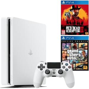 ps4 slim blanche red dead redemption 2 gta 5 premium