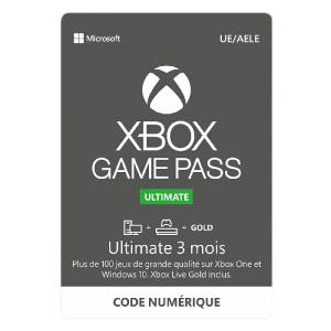 ABONNEMENT XBOX GAME PASS ULTIMATE 3 MOIS pas cher