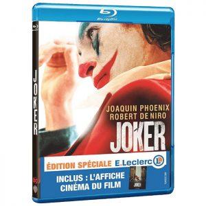 Joker en Blu Ray Affiche du film edition speciale Leclerc