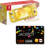 switch lite jaune cartes jackpot fnac