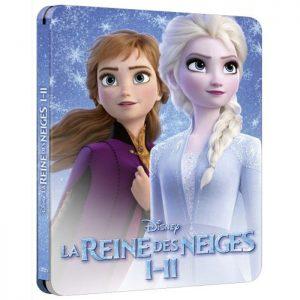 Coffret La Reine Des neiges 1 et 2 en Blu Ray Steelbook Edition Speciale Fnac