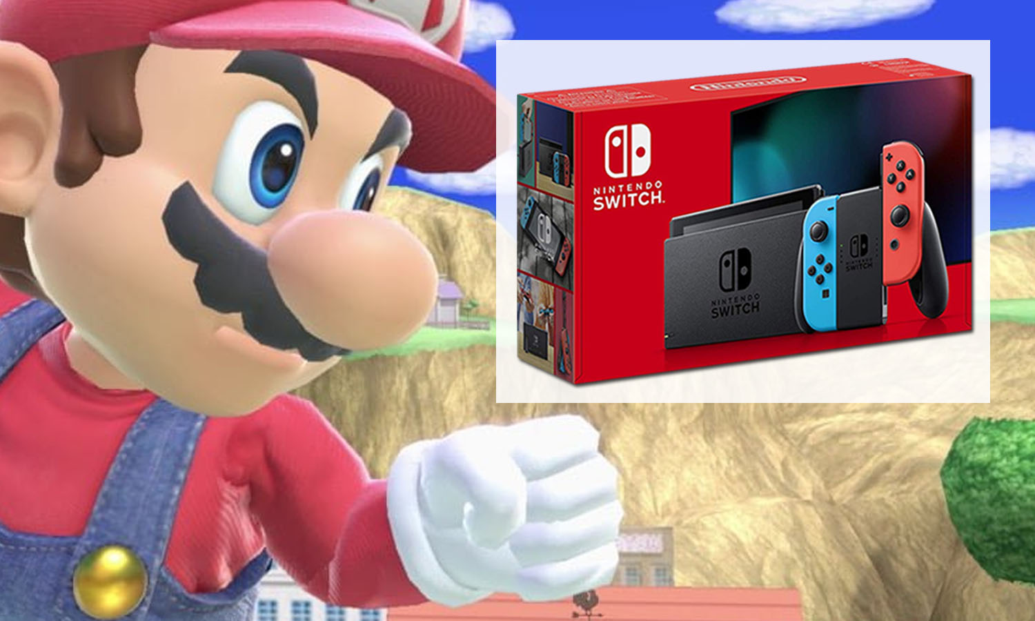 SLIDER switch Neon nouvelle fond smash bros