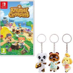 animal crossing new horizons switch bonus porte clefs fnac