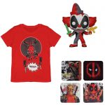 lot deadpool t shirt funko dessous de verres