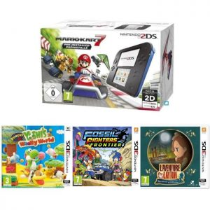pack 2DS mario kart 7 Poochy Yoshi's Woolly World Fossil Fighters Layton Katrielle