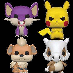 Figurines Funko Pop Pokemon Pikachu Rattata Osselet Caninos