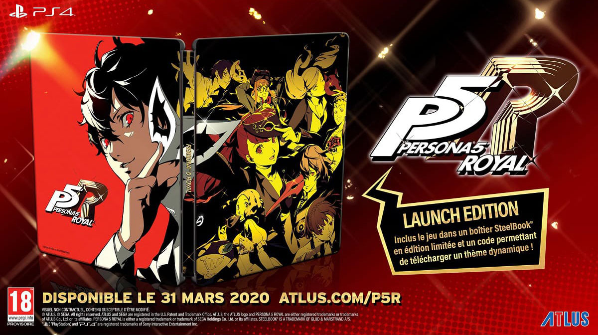 SLIDER persona royal launch ps4 steelbook