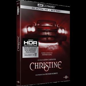 christine blu ray 4K visuel produit