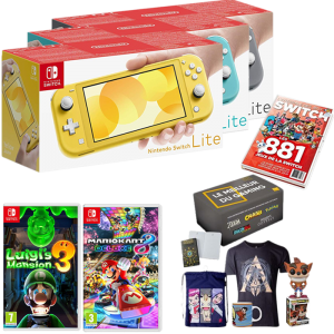 switch lite grise turquoise jaune box gaming guide des jeux luigi's mansion 3 mario kart 8 deluxe
