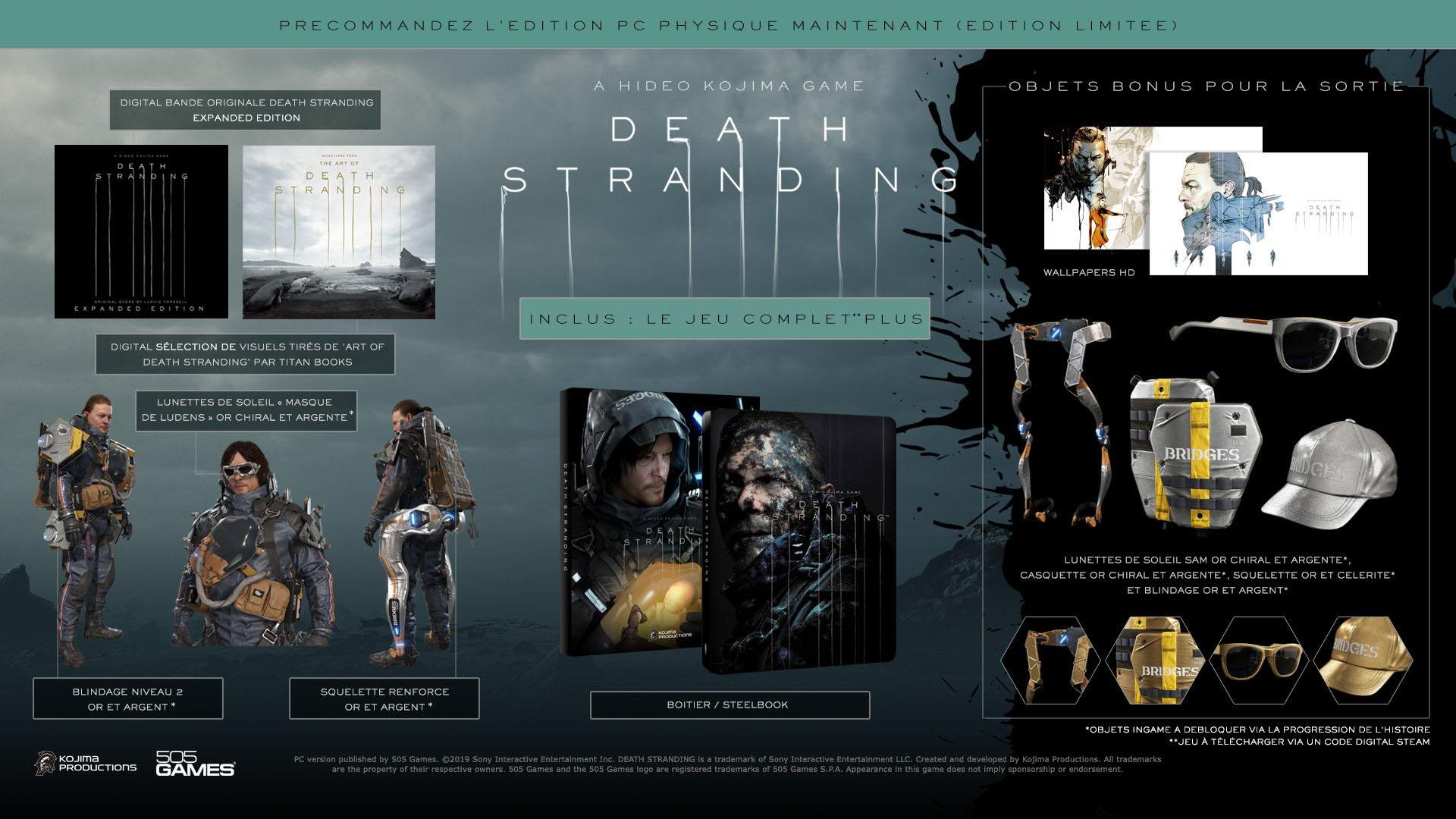 Death Stranding Edition Limitee PC detail
