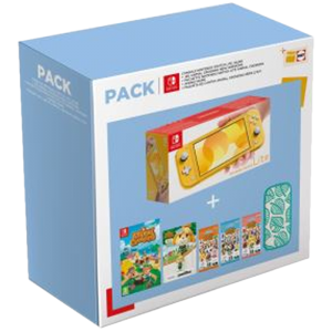 Pack Switch Lite Jaune Animal Crossing exclu Fnac